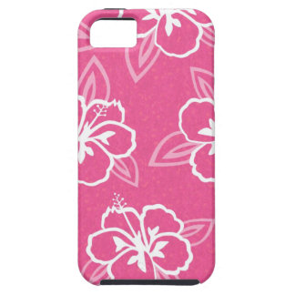 Pink Hibiscus Flower Print Case For The iPhone 5