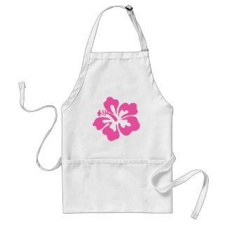 Pink Hibiscus Flower Standard Apron