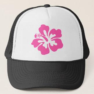 Pink Hibiscus Flower Trucker Hat