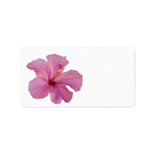 Pink Hibiscus Hawaiian Flower Customized Template