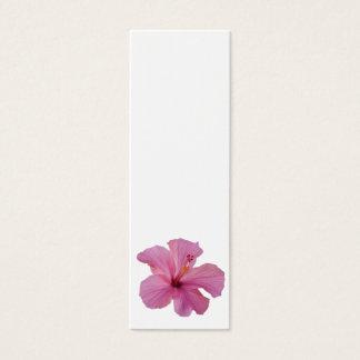 Pink Hibiscus Hawaiian Flower Customized Template Mini Business Card