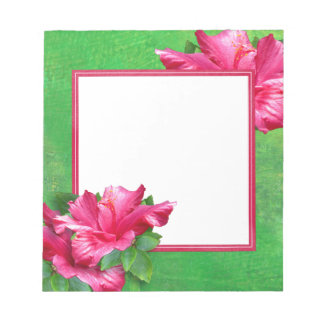 Pink Hibiscus Lei Notepad