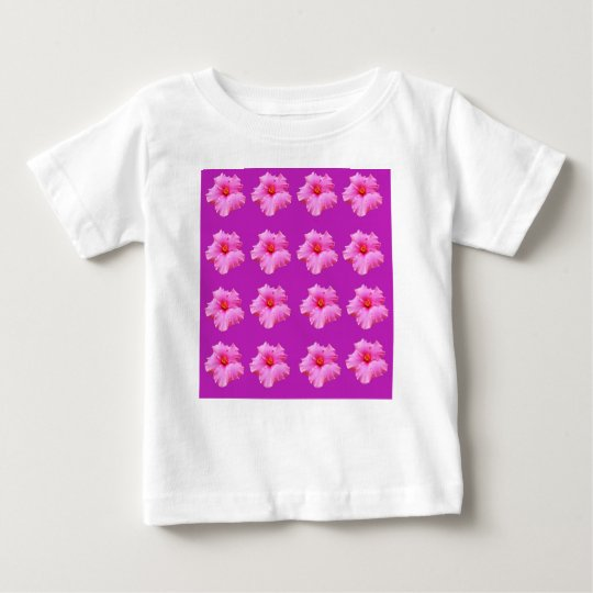 Pink_Hibiscus_Pattern,_ Baby T-Shirt