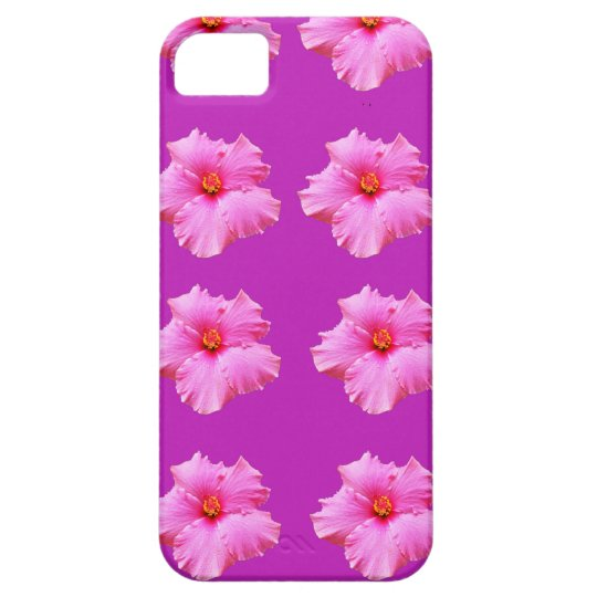 Pink_Hibiscus_Pattern,_ iPhone 5 Cases
