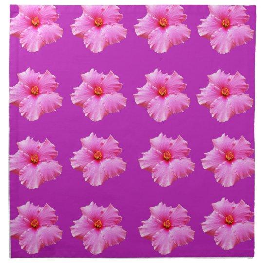 Pink_Hibiscus_Pattern,_ Printed Napkin