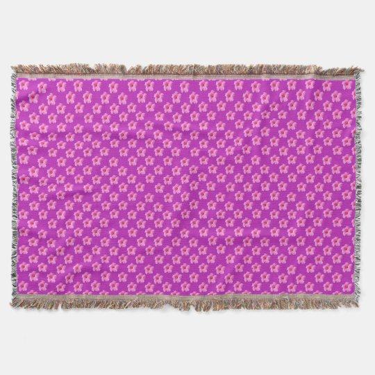 Pink_Hibiscus_Pattern,_ Throw Blanket