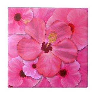 Pink Hibiscus Tile