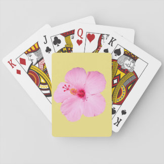 Pink Hibiscus Tropical Flower Playing Cards