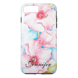 Pink Hibiscus Watercolor iPhone 7 Plus Case