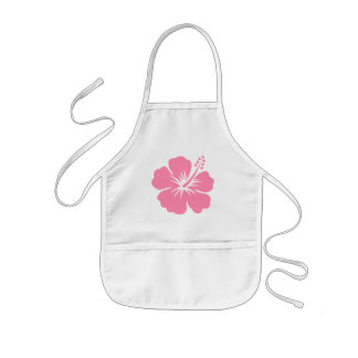 Pink Hibiscus Y Apron