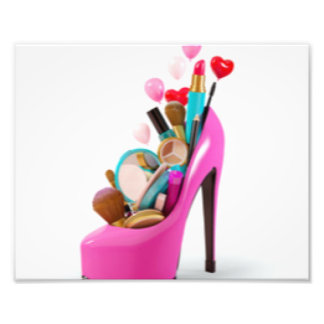 Pink High Heel & Cosemetic Photo Print