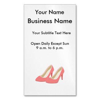 Pink High Heels - Elegant 1950s Girly Pumps Magnetic Business Card