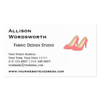 Pink High Heels - Elegant 1950s Girly Pumps Pack Of Standard Business Cards