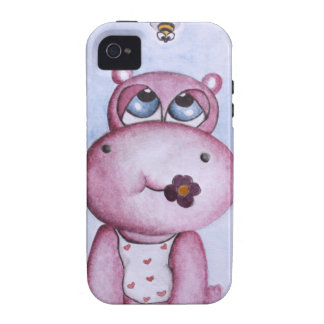 Pink Hippo iPhone 4/4S Cover