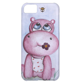 Pink Hippo iPhone 5 case