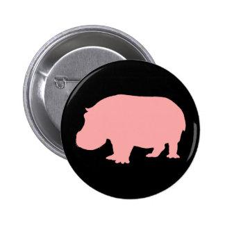 Pink Hippopotamus 2 Inch Round Button