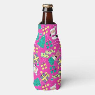 Pink - Ho Ho Santa Bottle Cooler