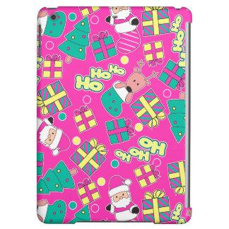 Pink - Ho Ho Santa iPad Air Cases