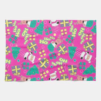 Pink - Ho Ho Santa Kitchen Towel