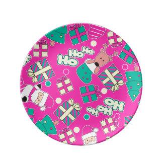Pink - Ho Ho Santa Plate