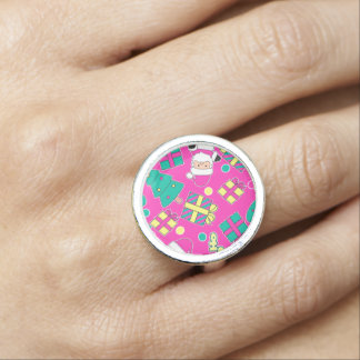 Pink - Ho Ho Santa Ring