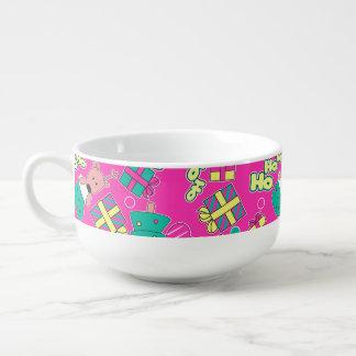 Pink - Ho Ho Santa Soup Bowl With Handle
