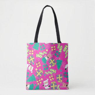 Pink - Ho Ho Santa Tote Bag