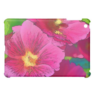 Pink Hollyhock iPad Mini Cover