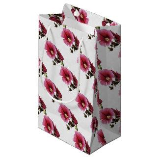 Pink Hollyhock Small Gift Bag