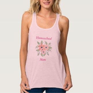 Pink Homeschool Mom Floral Tank Top