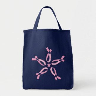 Pink Hope Grocery Tote Bag