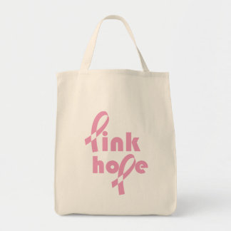 Pink Hope Ribbon Tote Bag