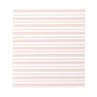 Pink Horizontal Pinstripe Notepad