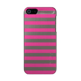Pink Horizontal Stripes Incipio Feather® Shine iPhone 5 Case