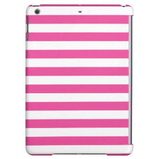 Pink Horizontal Stripes iPad Air Cover