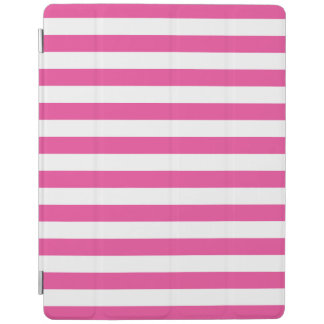 Pink Horizontal Stripes iPad Cover