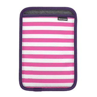 Pink Horizontal Stripes iPad Mini Sleeve