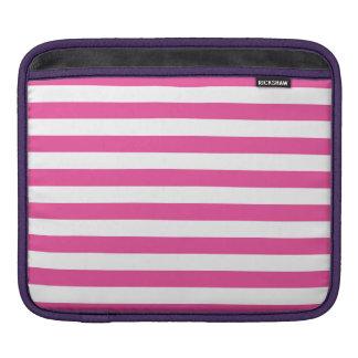 Pink Horizontal Stripes iPad Sleeve