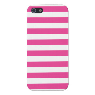 Pink Horizontal Stripes iPhone 5/5S Cases