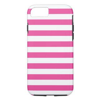 Pink Horizontal Stripes iPhone 8/7 Case