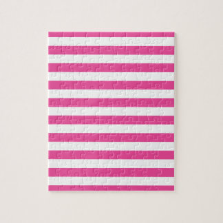 Pink Horizontal Stripes Jigsaw Puzzle