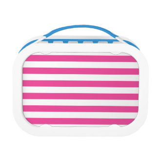 Pink Horizontal Stripes Lunch Box