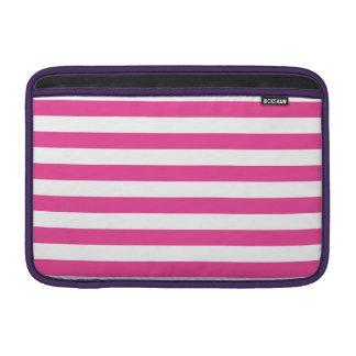 Pink Horizontal Stripes MacBook Sleeves