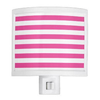 Pink Horizontal Stripes Night Lites