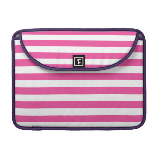 Pink Horizontal Stripes Sleeve For MacBook Pro