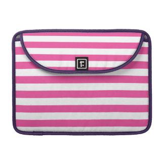 Pink Horizontal Stripes Sleeves For MacBooks