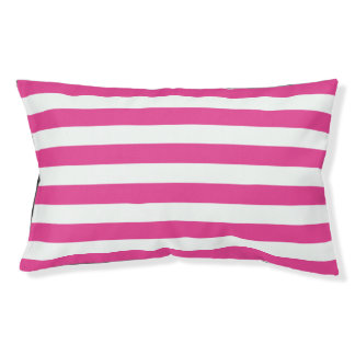 Pink Horizontal Stripes Small Dog Bed