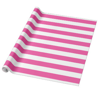 Pink Horizontal Stripes Wrapping Paper