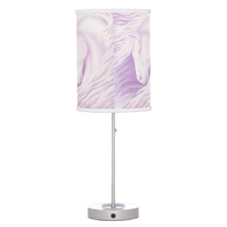 Pink Horse Collection Table Lamp