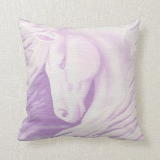 Pink Horse Collection Throw Pillow